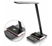Настольная лампа с беспроводной зарядкой 4 в 1 Smart Lamp для iPhone, AirPods, Apple Watch (Черный)