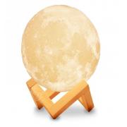 Ночник светильник настольный Луна 18 см с пультом управления, аккумулятором и touch функцией