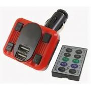 Автомобильный FM модулятор Allison A06 (Черный с красным)