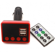 Автомобильный FM модулятор Allison A13 (Черный с красным)