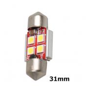 Автомобильная светодиодная лампа 30-30-4 31мм (Красный)