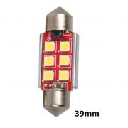 Автомобильная светодиодная лампа 30-30-6 39мм (Красный)