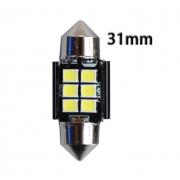 Автомобильная светодиодная лампа FS C5W 2835 6SMD 31мм (Черный)