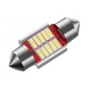 Автомобильная светодиодная лампа FS C5W 4014 12SMD 31мм (Красный)