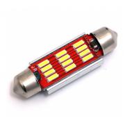 Автомобильная светодиодная лампа FS C5W 4014 12SMD 41мм (Красный)