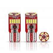 Автомобильная светодиодная лампа T10 W5W 4014 15 SMD (Красный)