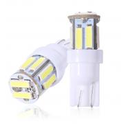 Автомобильная светодиодная лампа T10 W5W 7020 SMD 10 (Белый)