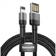 Кабель Baseus Cafule Cable Special Edition для Lightning 1м CALKLF-GG1 (Черный с серым)