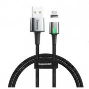 Кабель магнитный Baseus Zinc Magnetic Cable USB For iP 2.4A 1m CALXC-A01 (Черный)