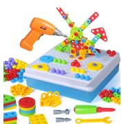 Развивающий конструктор-мозаика Creative Mosaic 4в1 237 деталей (Разноцветный)