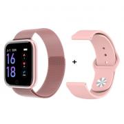 Смарт часы Q1 водонепроницаемые со сменным ремешком (Розовый)