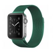Ремешок Milanese Loop для Apple Watch 38 40 мм ремешок на магнитной застежке, гибкий, нервущийся (Изумрудный)