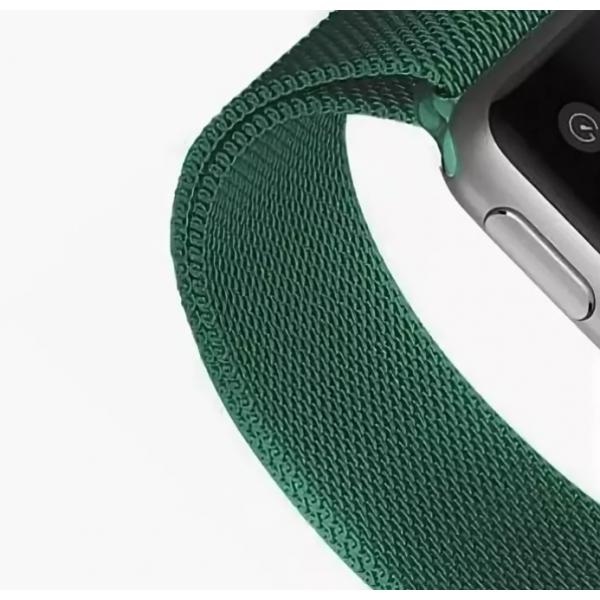 Ремешок Milanese Loop для Apple Watch 38 40 мм (Изумрудный)