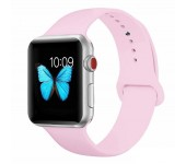 Силиконовый ремешок Sport для Apple Watch 42 44 мм (Бледно розовый)