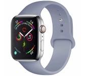 Силиконовый ремешок Sport для Apple Watch 42 44 мм (Серая лаванда)