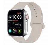 Силиконовый ремешок Sport для Apple Watch 42 44 мм (Серо-бежевый)
