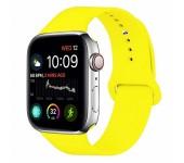 Силиконовый ремешок Sport для Apple Watch 42 44 мм (Ярко желтый)