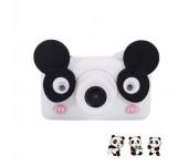 Детская цифровая камера фотоаппарат D3 Plus с силиконовым чехлом Панда (Черно белый)