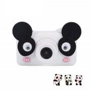 Детская цифровая камера D3 Plus с силиконовым чехлом Панда (Черно белый)