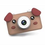 Детская цифровая камера D3 Plus с силиконовым чехлом Собачка (Коричневый)