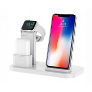 Док-станция зарядная 3 в 1 Bakeey для iPhone, Watch, Airpods (Белый)