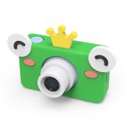 Детский цифровой фотоаппарат камера с силиконовым чехлом Лягушка (Зеленый)