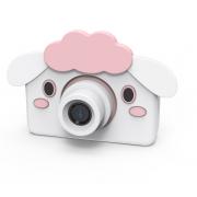 Детская цифровая мини камера фотоаппарат с силиконовым чехлом Овечка (Белый)