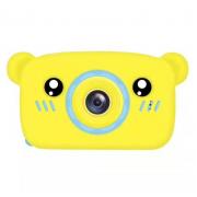 Детская цифровая камера в форме медведя (Желтый)