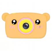 Детская цифровая камера в форме медведя (Оранжевый)