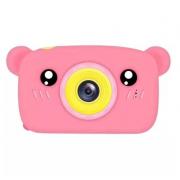 Детская цифровая камера в форме медведя (Розовый)