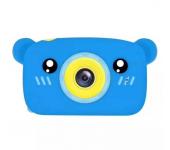 Детский цифровой фотоаппарат камера в форме медведя (Синий)