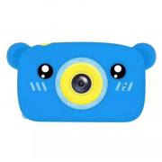 Детская цифровая камера в форме медведя (Синий)
