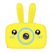 Детский цифровой фотоаппарат камера в форме зайчика (Желтый)