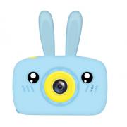 Детский цифровой фотоаппарат камера в форме зайчика (Синий)