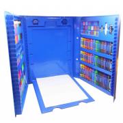 Набор юного художника с мольбертом 176 предметов (Голубой)
