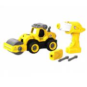 Набор пластмассовых деталей для сборки Машины для укладки асфальта с пультом ДУ DIY Spatial Creativity (Желтый)