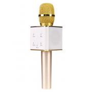 Микрофон Караоке со встроенным динамиком Q7 Беспроводной Bluetooth (Золотой)