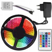 Светодиодная лента LED SMD 3528 5m с блоком питания RGB (Цветная)