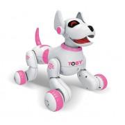 Интерактивная собака-робот с пультом ДУ Toby (Розовый)