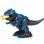 Радиоуправляемый робот трансформер 2 в 1 робот и динозавр с паром DT-6033 (Синий)