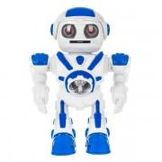 Робот со световыми и звуковыми эффектами UFO Bot (Белый с синим)