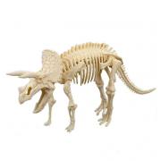 Набор Union Vision пластмассовых деталей для сборки скелета Трицератопса (Бежевый)