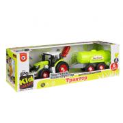 Набор Union Vision пластмассовых деталей для сборки трактора с цистерной (Зеленый)