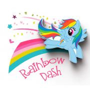 Декоративный 3D мини-светильник My Little Pony-Rainbow Dash (Голубой)