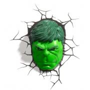 Декоративный 3D-светильник Hulk Face (Зеленый)