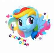 Декоративный 3D светильник MLP Rainbow Dash (Голубой)