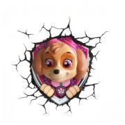 Декоративный 3D светильник Paw Patrol Skye (Розовый)