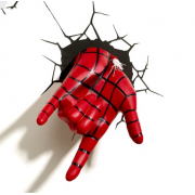 Декоративный 3D светильник Spiderman Hand (Красный)