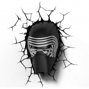 Декоративный 3D светильник Star Wars Lead Villian Helmet (Черный)
