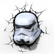 Декоративный 3D светильник Star Wars Storm Trooper (Белый)